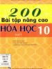 200 Bài Tập Nâng Cao Hóa Học 10
