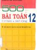 500 Bài Toán 12 Cơ Bản và Mở Rộng