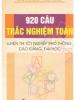 920 Câu Trắc Nghiệm Toán Luyện Thi Tốt Nghiệp Phổ Thông – Đại Học – Cao Đẳng