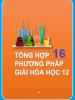 Tổng hợp 16 phương pháp giải bài tập Hóa học 12