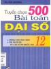 Tuyển Chọn 500 Bài Toán Đại Số 12
